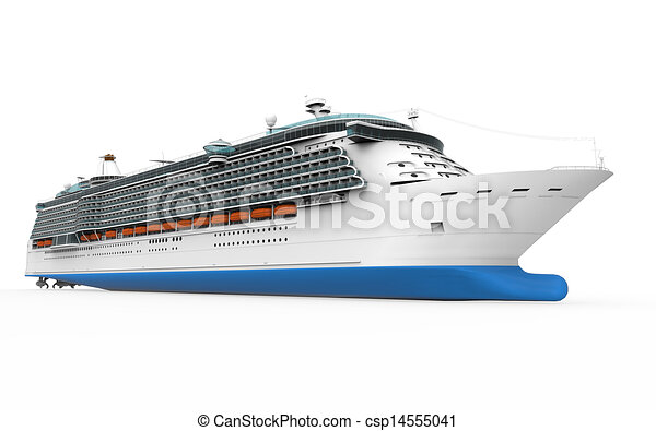 Luxury Cruise Ship Isolated On White Background D Render Drawing - Cruise ship drawings