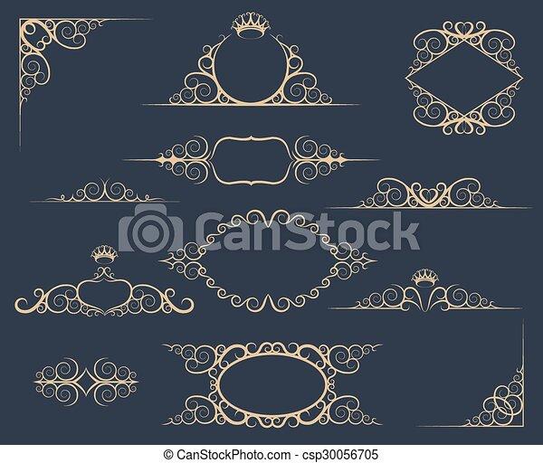 Luxury Decor Elements Set - csp30056705