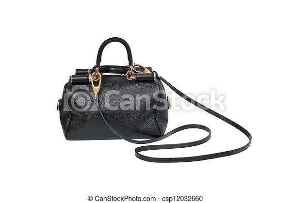 luxury female handbag isolated on white background - csp12032660