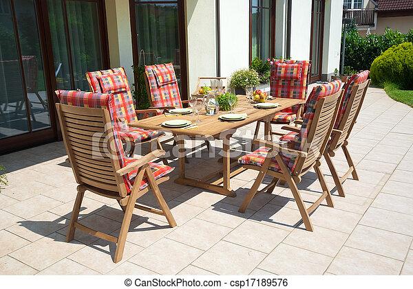 Luxury Garden furniture - csp17189576