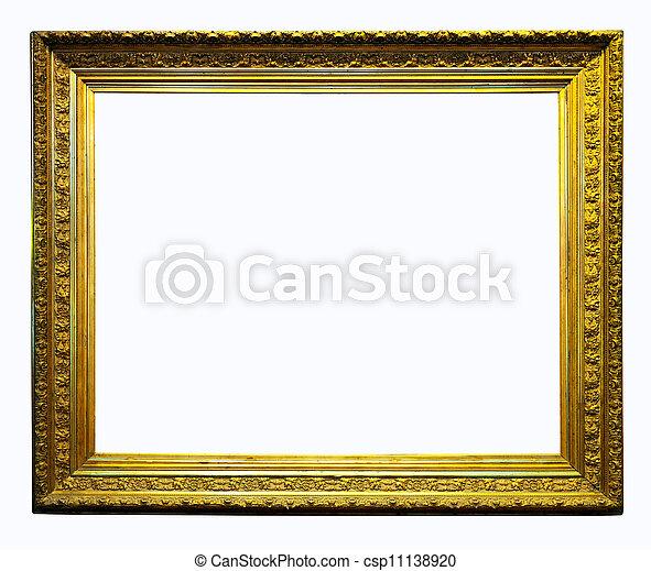 Luxury gilded frame. isolated over white background.