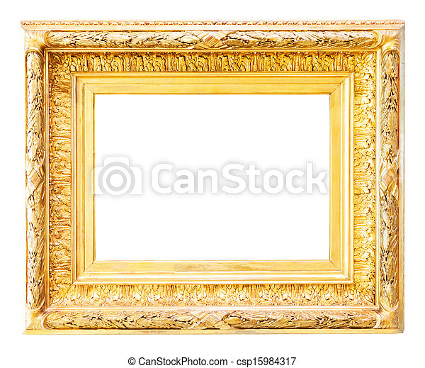 Luxury gilded frame over white . Luxury gilded frame. isolated over ...