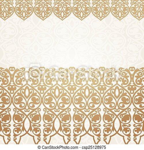 Luxury Gold Border On Seamless Background
