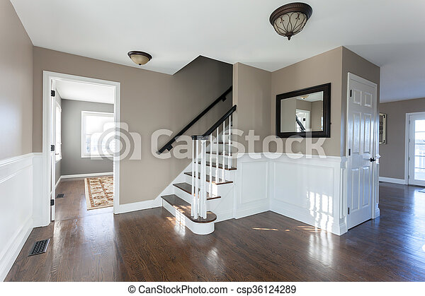 luxury home interior new house entryway interior room with wood