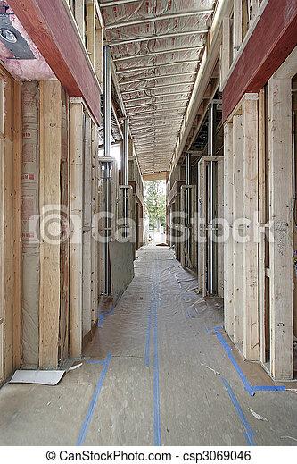 Luxury home under construction - csp3069046
