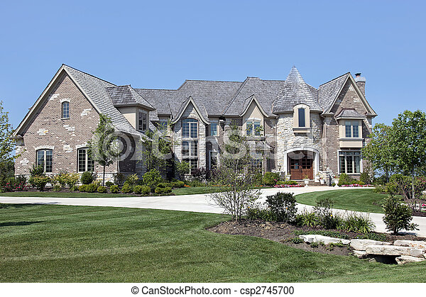 Luxury home with turret - csp2745700