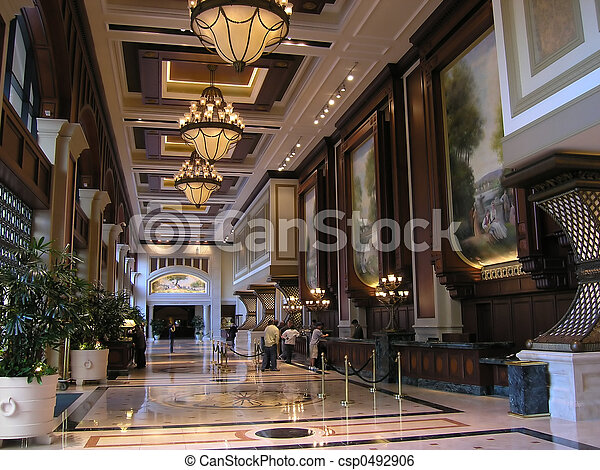 Wonderful Luxury Hotel Lobby   Csp0492906