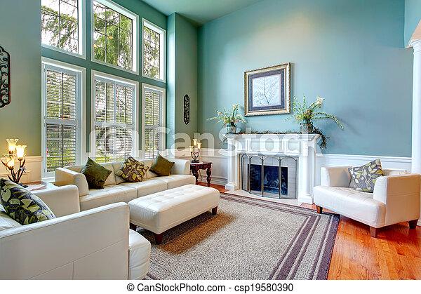 Luxury house interior. ELegant living room - csp19580390