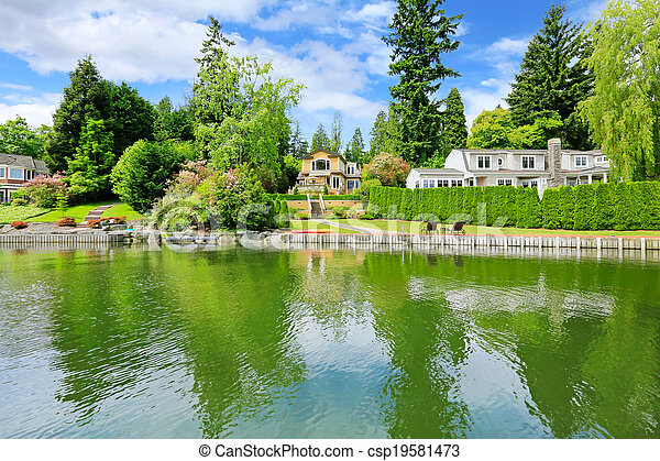 Luxury house with private dock - csp19581473