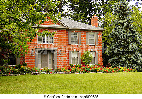 Luxury House with Shutters - csp6892635