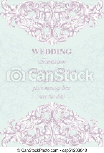 Luxury Invitation Card Vector Royal Victorian Pattern Ornament