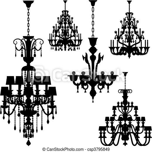 luxury lighting (vector)  - csp3795849