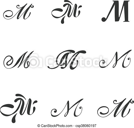 luxury m monogram template vector business m sign monogram logo and