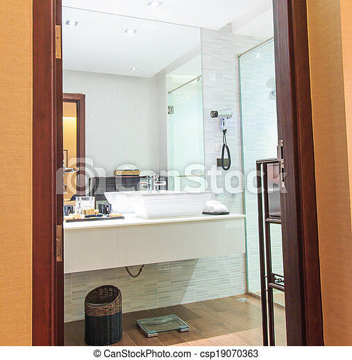 Luxury Modern Bathroom Suite With Bath And Wc Canstock