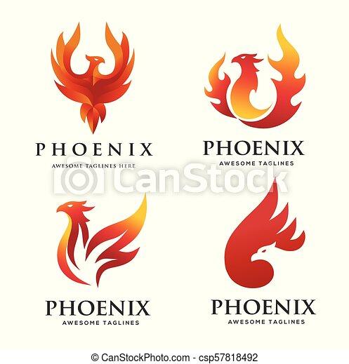 luxury phoenix logo concept - csp57818492