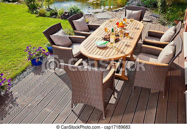 Luxury rattan Garden furniture - csp17189683