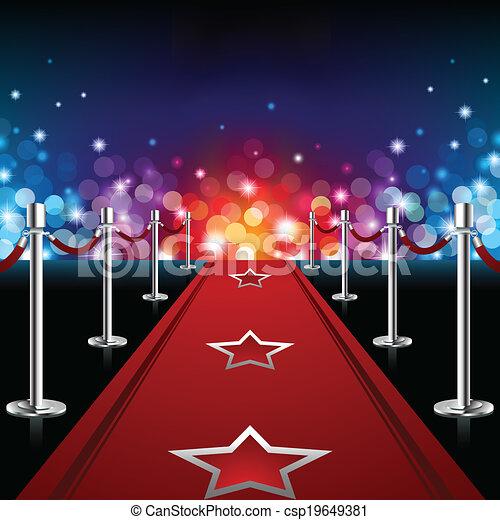 Luxury Red Carpet - csp19649381
