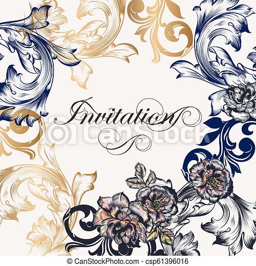 Luxury Royal Invitation Card For Design Eps