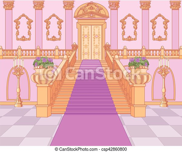 Luxury Staircase in Magic Palace - csp42860800