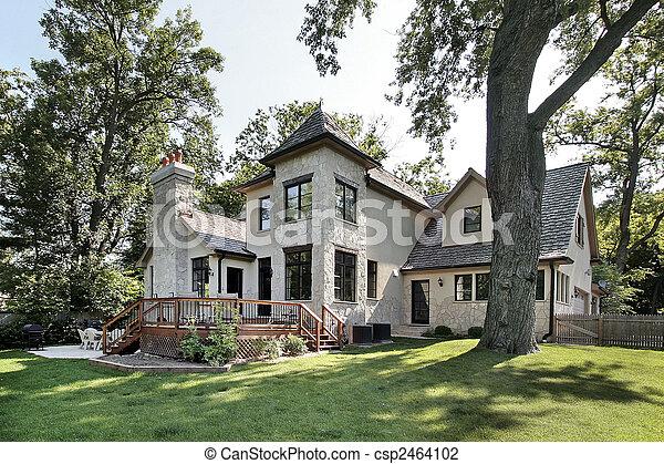 Luxury stone home - csp2464102