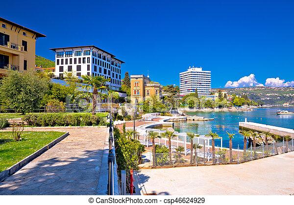 Luxury waterfront walkway in Opatija - csp46624929