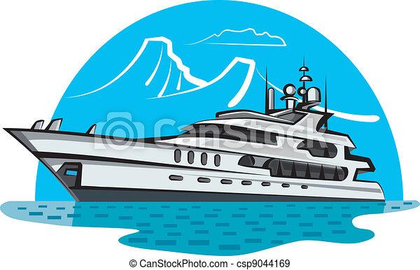 luxury yacht - csp9044169