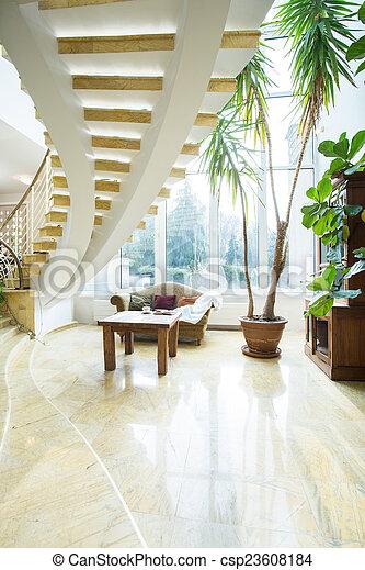 Moderne Treppen In Luxusvilla Das Hotel Ist Sehr Zentral