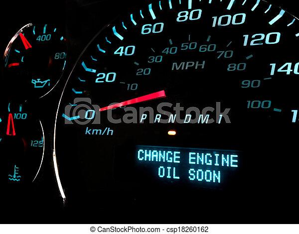 luz, óleo, aviso, logo, mudança - csp18260162