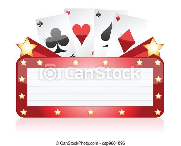 Ilustración de señales de neón Casino - csp9661896
