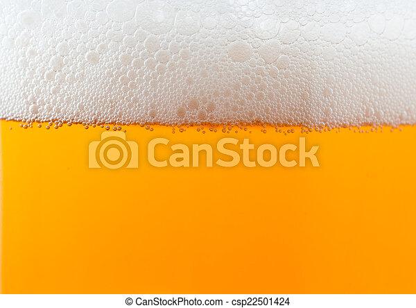 luz, cerveja, espuma, fundo - csp22501424