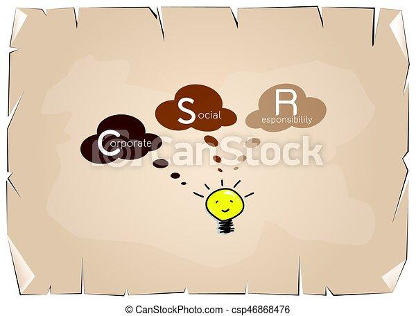 Luz Conceptos Responsabilidad Social Bombilla Ilustración