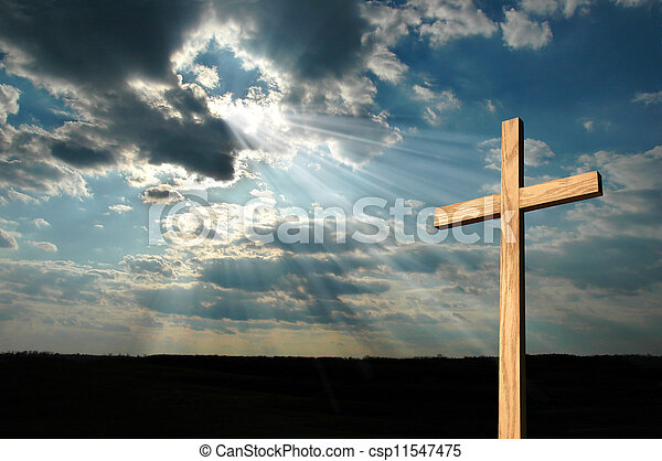 luz, cruz, brillar - csp11547475