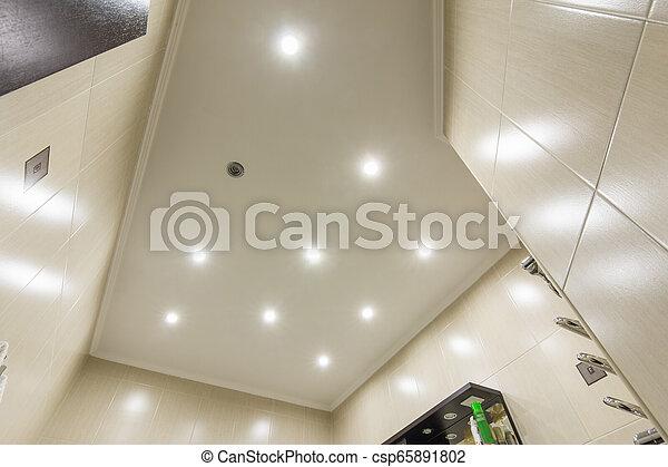 Una bombilla en el baño - csp65891802