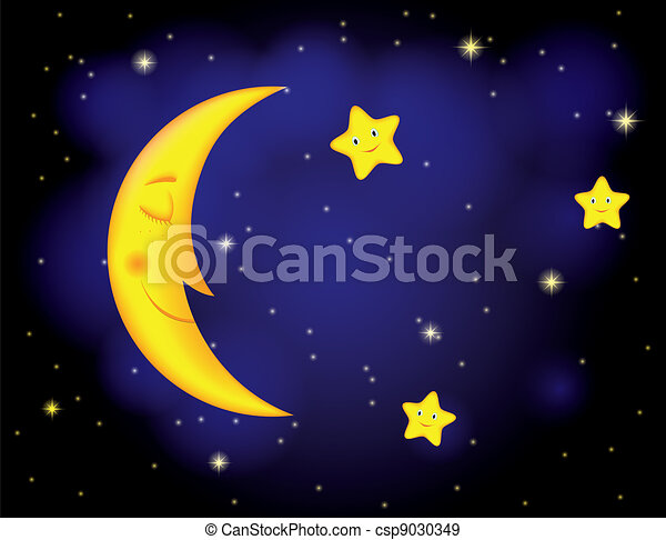 luz de la luna, noche - csp9030349