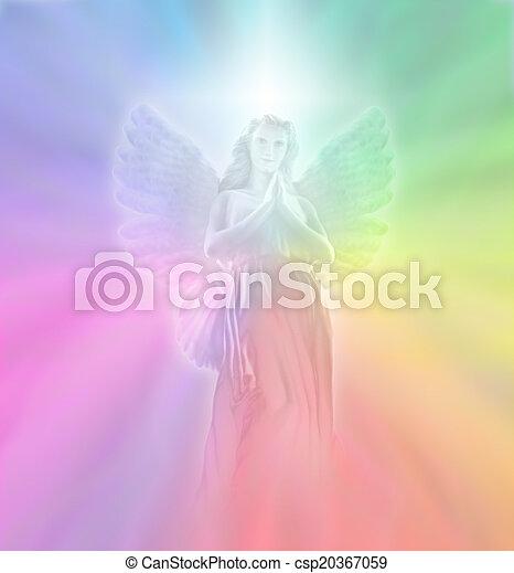 luz, divino, ángel - csp20367059