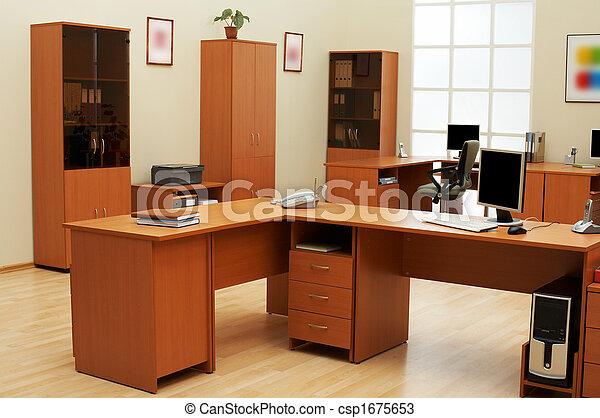 luz, modernos, escritório - csp1675653