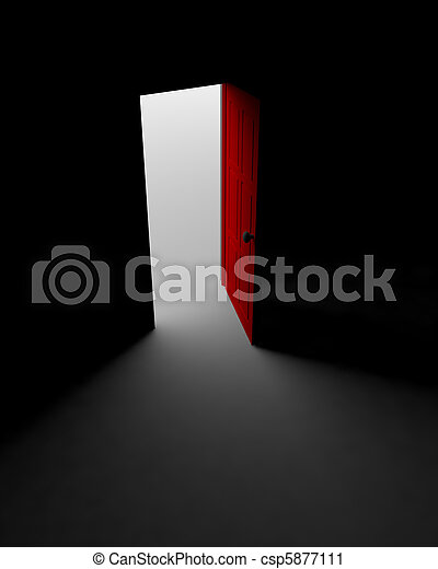 Puerta a la luz - csp5877111