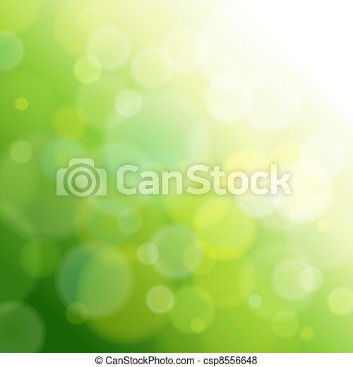 luz, resumen, verde, fondo. - csp8556648