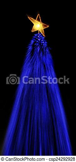 luzes, árvore natal - csp24292928