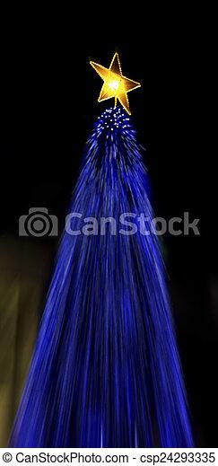 luzes, árvore natal - csp24293335
