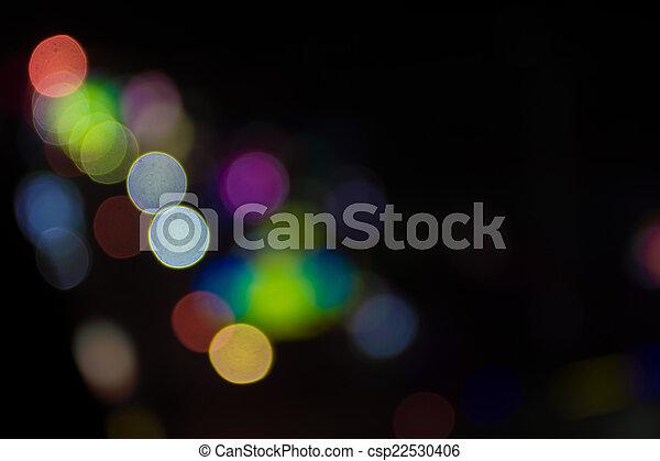 luzes, bokeh, defocused - csp22530406