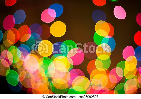 luzes, bokeh, defocused - csp35092507