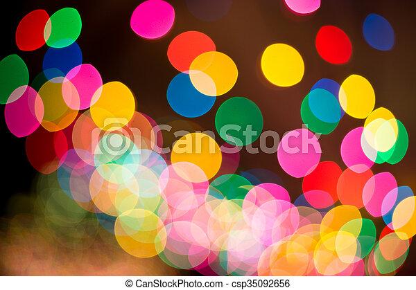 luzes, bokeh, defocused - csp35092656