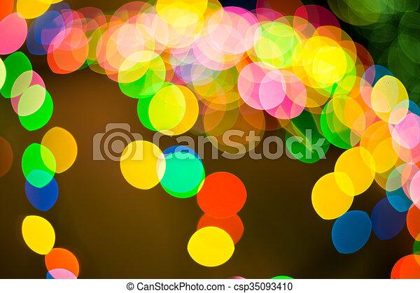 luzes, bokeh, defocused - csp35093410