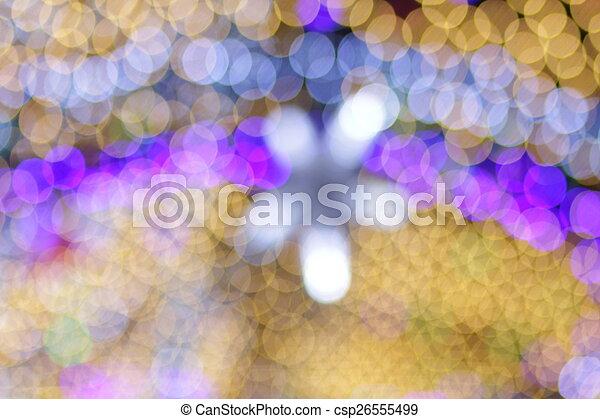 luzes, bokeh, defocused - csp26555499