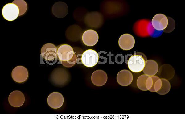 luzes, bokeh - csp28115279