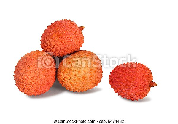 Lychee fruits on white - csp76474432