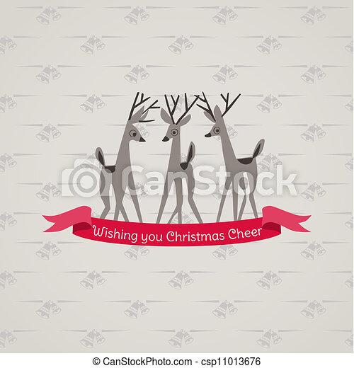 lykønskning, -, invitation, vektor, retro, card christmas - csp11013676