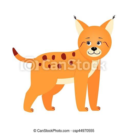 Lynx, illustration for children. - csp44970555