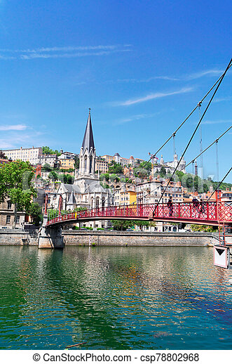 Lyon, France in a beautiful summer day - csp78802968